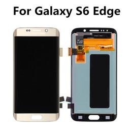 Promotion écrans lcd samsung Lamchin pour Samsung Galaxy S6 Edge LCD Tough Screen Digitizer Panneaux tactiles Screen Assembly Remplacement de réparation G925W Grade A +++