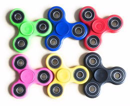 2017 New Tri-Spinner Fidgets Toy Plastic EDC Sensory Fidget Spinner For Autism and ADHD Kids Adult Funny Anti Stress Toys
