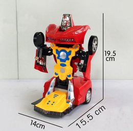 Wholesale The new special automatic deformation light universal wheel car music automatic transformer children
