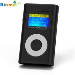 Promotion nouveaux écrans lcd Vente en gros # 15 2016 USB Mini Lecteur MP3 Ecran LCD Support 32Go Micro SD TF Carte Nouveau Portable MP3 Lecteur de musique LCD Lecteur MP3