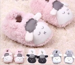 Wholesale Super explosion models learn to step shoes autumn and winter new coral velvet lamb can not afford shoes baby toddler shoes baby shoes