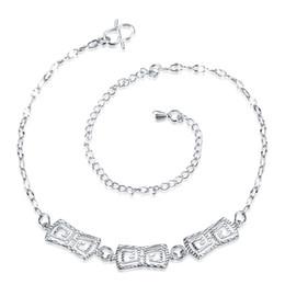 Promotion lien pour perles Fashion Argent plaqué chevilles Nice Sexy simple lien chaînes cheville cheville pied bijoux cadeau avec des fleurs perles charmes pour les femmes dames filles