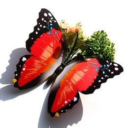 monarch butterfly Multicolor Magnetic Butterfly Wall Stickers 40CM single layer mixed color butterfly