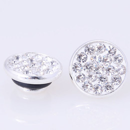 925 Silver Plating Fimo Clay With Micro Pave CZ Pave Crystal JewelPops For Diy Charm Kameleon Jewelry Making