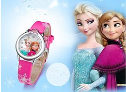 New Cartoon watch Princess Watches Fashion Children Watch Girls Kids Students Leather Sports Wristwatches Gifts Watches