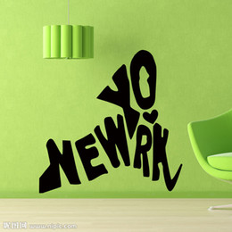 Cool Graphics I Love New York Wall Decal Modern Home Stickers Bedroom Living Room Home Creative Decor DIY