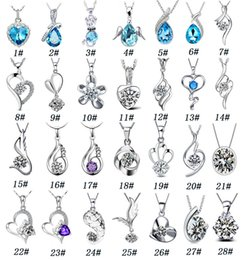 Wholesale Austria Crystal Necklace Fashion Tears of Angel Pendants silver plated pendant Necklaces Gifts for women jewelry