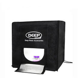 80 x 80CM PROFONDEUR 4 LED Photographie Photographie Studio Tente Éclairage professionnel Portable LED Boîte Soft Box Set à partir de photo boîte de tente fournisseurs