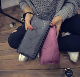 Wholesale 6 Colors Fashion Women Mini Long Wallet Elegant Stone Grain Purse Cool Lady European Wallets For Girl s Student Bag H121