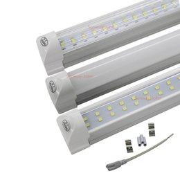4FT LED Tube Light T8 integrated led lights Bulbs 28w 3080lm 4 feet 1.2m double row SMD 2835 led fluorescent tubes Lamp