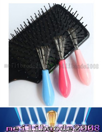 Wholesale NEW Comb Hair Brush Cleaner Cleaning Remover Embedded Beauty Tools Plastic Handle MYY