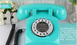 Wholesale Antique Rotation dial number telephones High antique telephones Europe Home phone landline colors