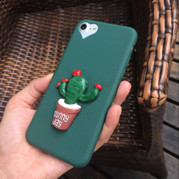 Cactus TPU soft Case for iPhone7 Plus Cartoon Thin Back Cover for Apple iPhone6 6s Plus Tomato Phone Protective Shell