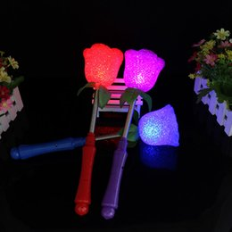 Canada Creative Star Amour Cœur Rose Fleur Clignotante Lumière LED Baguette Baguettes Glow Gave Stick Magic Toys Xmas Party Concert Fournitures ZA1459 magic star light promotion Offre