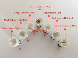 dual wax coil for pyrex glass tank Ceramic Wax coil replacement Core head for Glass globe atomizer
