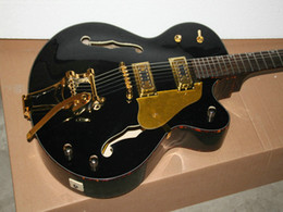Factory direct sale New Arrival Black Classic Jazz Guitar with Free Shipping