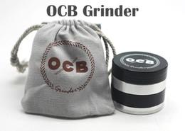 Wholesale Metal Grinders OCB Grinders Tabacco Herbal Grinders Layers Aluminium Alloy Grinder mm Metal Grinders VS Sharpstone Grinders
