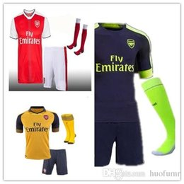 Wholesale Mixed buy DHL Gunners Sets Uniform Home OZIL WILSHERE RAMSEY ALEXIS GIROUD Welbeck Third Arsenals Jerseys Kits Suit With Shor