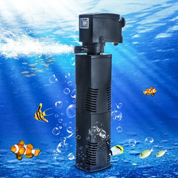 Wholesale 22w L h Aqua Fish Tank Aquarium Internal Submersible Water Power Filter Aquarium Internal Submersible Filter Fish Tank Filtration Pum
