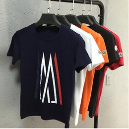 Wholesale 100 Cotton T shirts Men Shorts Sleeve Brand Design Summer male Tops Tees Fashion Casual Monclers x Ami Tshirts For Man New Arrival
