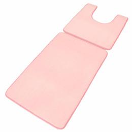 2017 ensembles de toilette en coton Vente en gros-80 * 50cm Pink Mat Sets pad bain de toilette tapis Tapis Tapis Douche salle de bain lavable en coton doux tapis de porte 9 couleurs ensembles de toilette en coton sur la vente