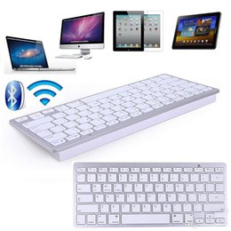 Wholesale 2017 New Best Ultra Slim Wireless Bluetooth Keyboard for IOS Android Windows System Tablet PC Computer IPAD Smartphone