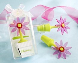 "New Arrival Factory Directly Sale Wedding Favor-""blooming"" Flower Bottle Stopper In Whimsical Window Gift Box Wholesale"