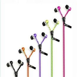 50pcs YI Zip zipper headphones for Smart Phone Cell Phone htc samsung nokia earphone music zipnico 3.5mm Plug