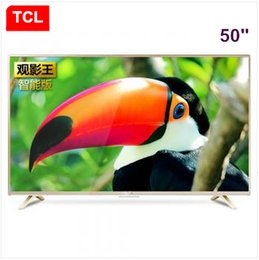 tv lcd led 55 Promotion TCL50 pouces LED LCD TV large Affichage du roi Android Smart TV intégré WiFi résolution électronique 1920 * 1080P Full HD TV Livraison gratuite!