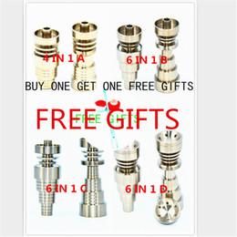 Wholesale BEST SALER GR2 TITANIUM NAILS mm mm mm IN AND IN1 domeless titanium nailS with male and female joint
