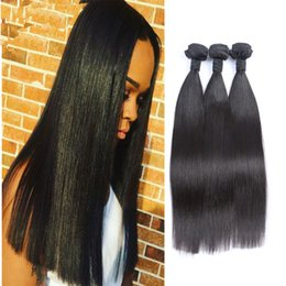 Wholesale Brazilian Straight Hair Bundles 3pcs lot TOP Quality Hair Weave 50g pcs Unprocessed Virgin Hair Extensions Double Weft No Shedding