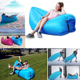 Wholesale Fast Inflatable Sofa Sleeping Bag Outdoor Air Sleep Sofa Couch Portable Sleeping Hangout Lounger Inflatable Air Bed cm XL A67