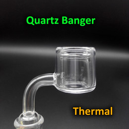 Wholesale New Design XXL Quartz Thermal Banger Nail With mm OD mm mm mm Double Tube Quartz Thermal Banger For Oil Rigs Glass Bongs