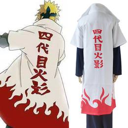 Namikaze Minato cosplay costumes Naruto Shippuden cloak Japanese anime Naruto clothing halloween costumes Masquerade costumes white