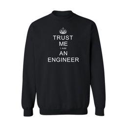 Compra Online Al por mayor de la ingeniería-Wholesale- Confíe en que yo SOY UN ingeniero Negro / gris sudaderas con capucha largas de los hombres de la cadera del sudaderas con capucha de la cadera en sudaderas con capucha y sudaderas para hombre de la alta calidad