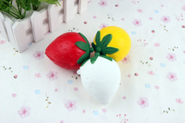 Squishy Strawberry Cream Scented Slow Rising Toy Cell Phone Charms Pendant Strap