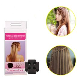 7pcs set Twist Roller Hair Styling Tools Weave Waterfall Braid Maker DIY Hairstyle Tool Braiding Accessories with 6 Hairbands
