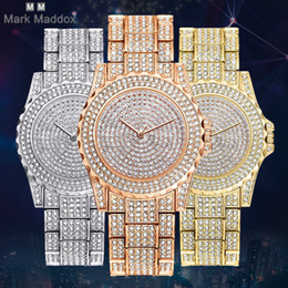 2017 ladies fashion full diamond rose gold belt dress three-color high-quality luxury quartz watch gift hot