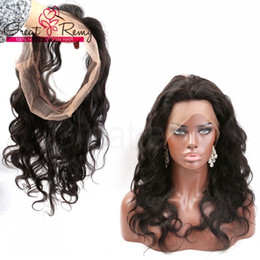 360 Lace Frontal Wig 22*4*2inch Brazilian Hair Greatremy 100% Unprocessed Human Hair Body Wave Full Lace Band Frontal with Baby Hair