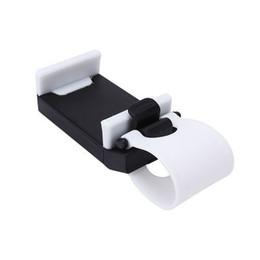 Acheter en ligne Volant pour les vélos-Vente en gros-blanc volant de voiture support de téléphone portable Support de vélo Clip Mount pour iPhone Galaxy S4 S5 GPS HTC MP4 Universal