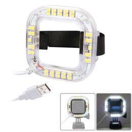 Usb gopro en Línea-Para la cámara de la acción de la sesión del héroe 4 de GoPro Hero solamente 38pcs LED Qty 1.9W 160 luz del anillo del USB LED del LM que envía libremente