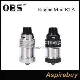 Wholesale OBS Engine Mini RTA Tank ML Two Post Dual Terminal Design Four Wicking Ports PEEK Insulator Slide to Open Side Fill Gasket Original