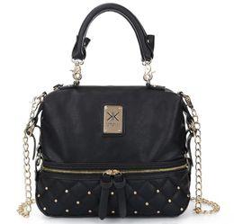 Wholesale Fashion kardashian kollection brand black chain women handbag shoulder bag KK Bag totes messenger bag free shopping