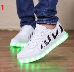 new 2017 Casual Simulation LED Shoes Women LED lighe shoes Women Leather Led white light up shoes for adults