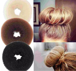 3pcs lot Hair Volumizing Scrunchie Donut Ring Style Bun Scrunchy Sock Poof Bump It Snooki