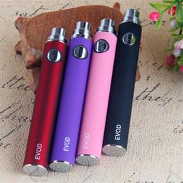 Hot Vapes EVOD ecig batteries 650 mah 900 mah 1100 mah eVod 510 vape battery electronic cigarette for vape cartridges ce4 atomizer