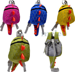 Wholesale 4Color The Good Dinosaur kids Cartoon Arlo Anti Lost backpack kindergarten girls boys children backpack school bags animals dinosaurs snacks