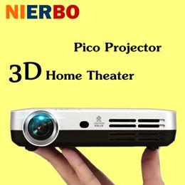 Vente en gros-Portable LED Projecteur HD 1080P 3D Android LED Projecteurs Full HD Vidéo Home Cinema Smart Lecteur multimédia Théâtre Beamer Film à partir de cinéma maison intelligente fabricateur