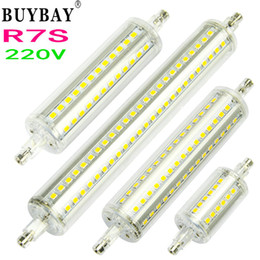 Newest Dimmable R7S Bulb 220V 7W 78mm 12W 118mm 15W 135mm 20W 189mm led Lamp SMD2835 led light For Lawn Floodlight NO flicker
