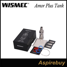 Meilleur rba à vendre-100% Original Wismec Amor Plus Tank RBA Atomizer 3.8ml Pyrex Glass Tube Contrôleur de débit d'air innovant Clearomizer Best for Presa TC75W Mod
